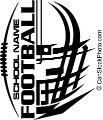 football team design with helmet and laces for school, college or league