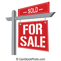 Sold for sale sign. Vector File available.