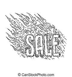 For Sale Sign. Vector illustration