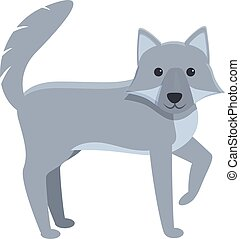 Forest wolf icon, cartoon style