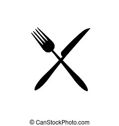 Fork and knife icon vector. Eat symbol.