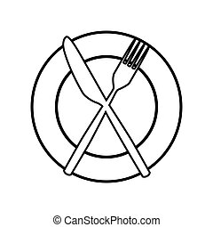 Fork and Knife line icon