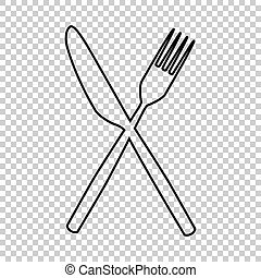 Fork and Knife line vector icon