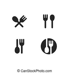 fork and spoon logo vector