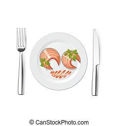 fork fish knife