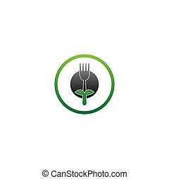 Fork icon logo vector