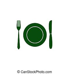 Fork knife dish icon