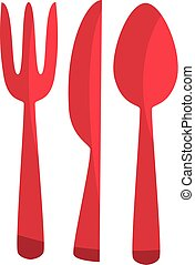 fork, knife, spoon icon. cutlery simple vector illustration.