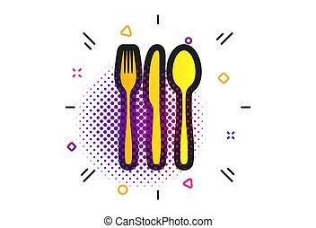 Fork, knife, tablespoon. Cutlery set. Vector