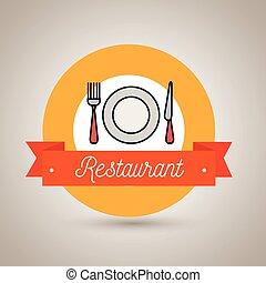 fork plate knife restaurant icon