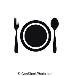 fork spoon dish icon
