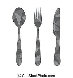 fork spoon knife geometric