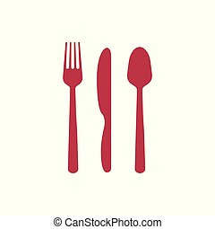fork spoon knife vector icon
