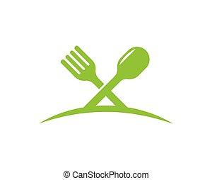 fork, spoon logo vector illustration
