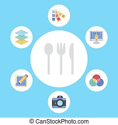 Fork vector icon sign symbol