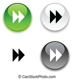 Forward glossy round vector buttons.