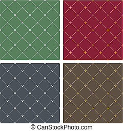 Four different classical style backgrounds seamless pattern