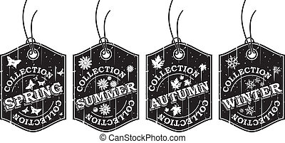 Four Seasons Retro Labels