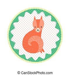 Fox badge emblem