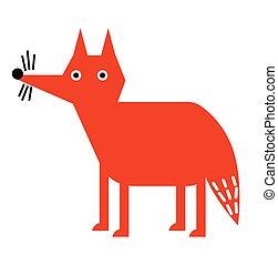Fox flat illustration