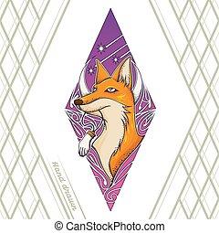 Fox Tattoo Hand Drawn