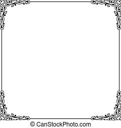 Decorative frame on white background