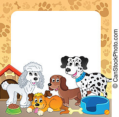 Frame with dog theme 1