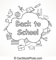 Freehand school illustration