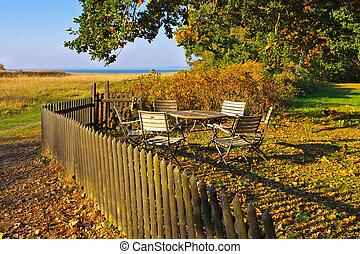 Freesenort on island Ummanz in Germany in autumn