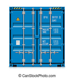 Freight shipping, cargo container