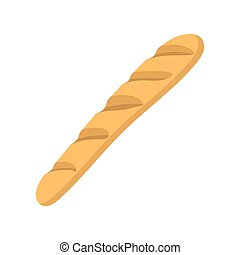 French baguette icon, cartoon style