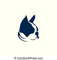 French bulldog and cat vector illustration