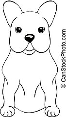 French Bulldog cartoon dog icon