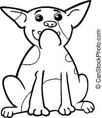french bulldog cartoon for coloring