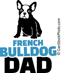 French bulldog dad with dog silhouette