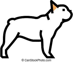 french bulldog dog color icon vector illustration