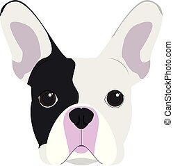 French Bulldog dog isolated on white background vector illustration
