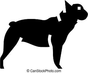french bulldog dog line icon vector illustration