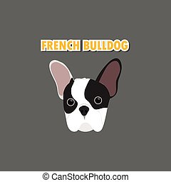 French Bulldog dog vector