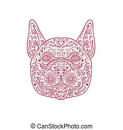 French Bulldog Head Front Mandala