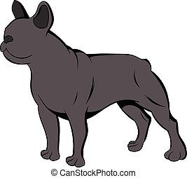 French bulldog icon cartoon