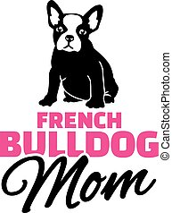 French bulldog Mom with dog silhouette