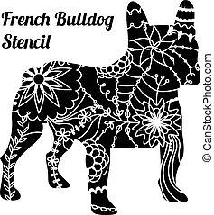French bulldog stencil