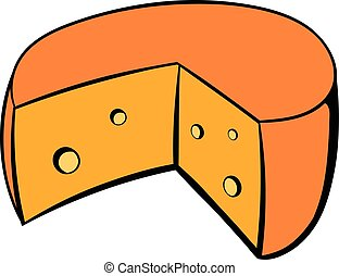 French cheese icon cartoon
