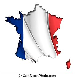 French Map-Flag