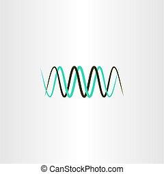 frequency wavelength logo vector