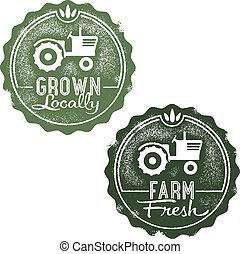 Fresh Farm Locally Grown Stamps