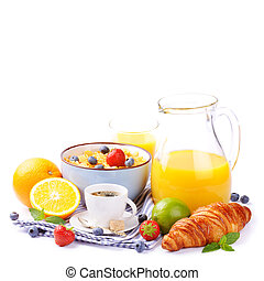 Fresh healthy breakfast with copyspace