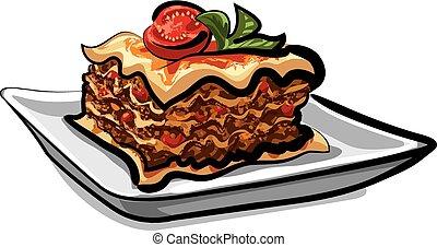 fresh italian baked lasagna
