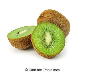fresh kiwi fruit isolated on white background